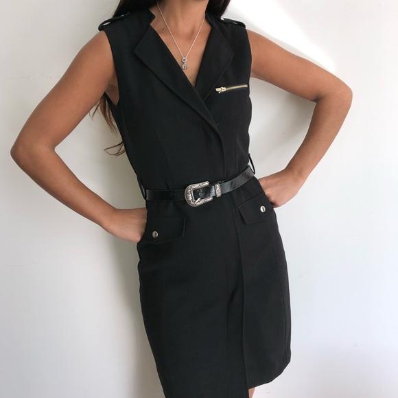 0b0a4bbbfd967 H M Dresses   Skirts - H M black military sleeveless midi ...